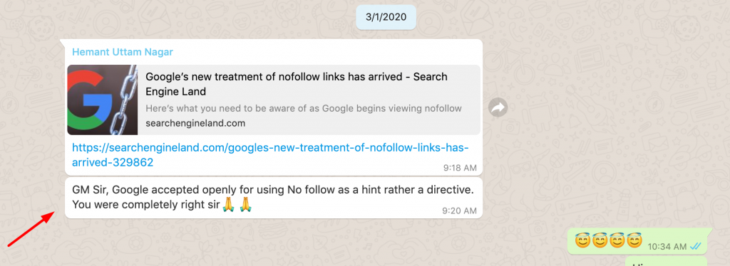 google nofollow link's march update